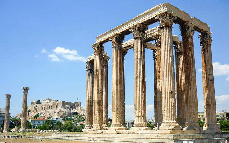 Temple in Athens, Greece