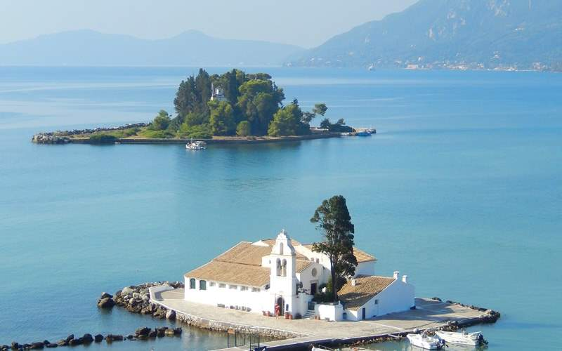 Vlacherna Monastery in Corfu, Greece