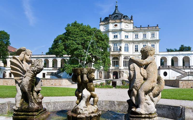 Baroque castle near Litomerice Viking River Europe