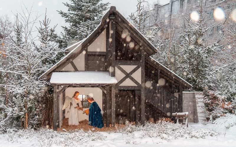 Christmas display in Bamberg Viking River Europe