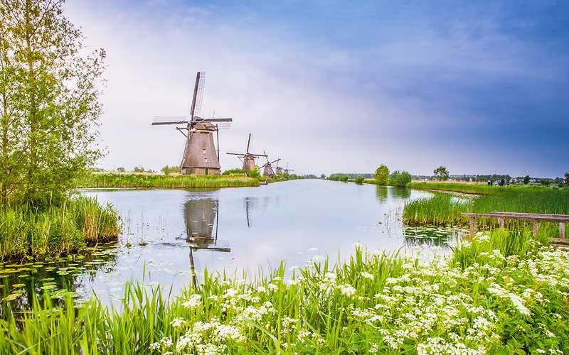 Dutch mills in Kinderdijk Viking River Europe