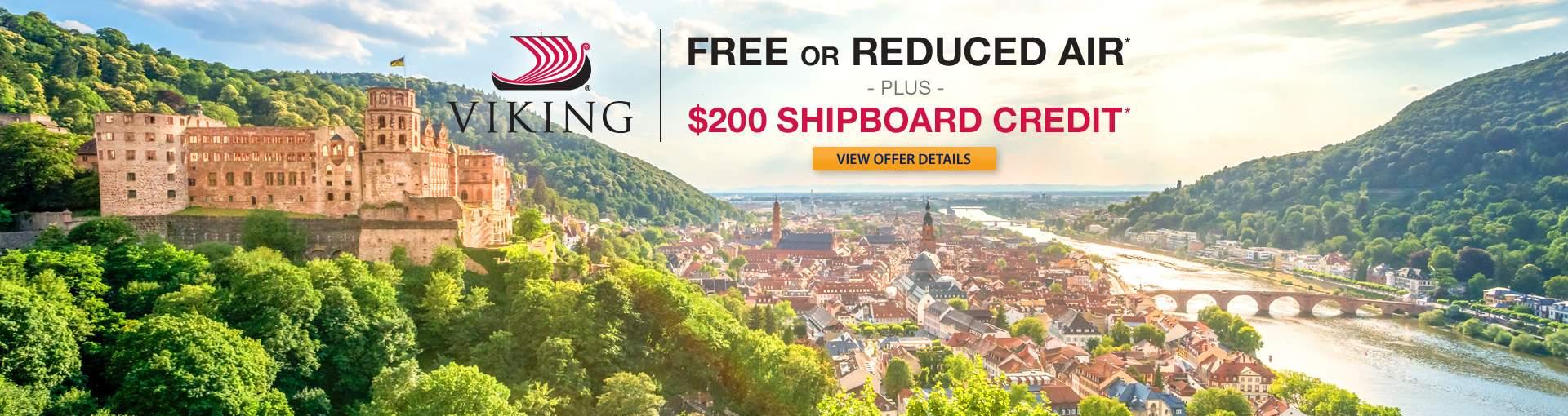 Viking Rivers: up to Free Airfare