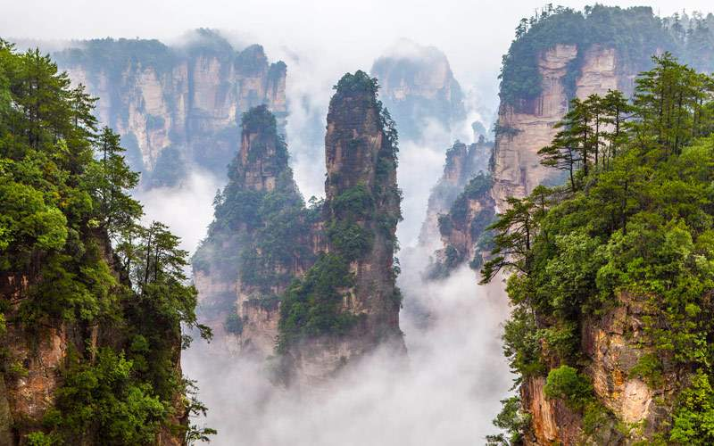 Zhangjiajie National Park in China Hunan Province