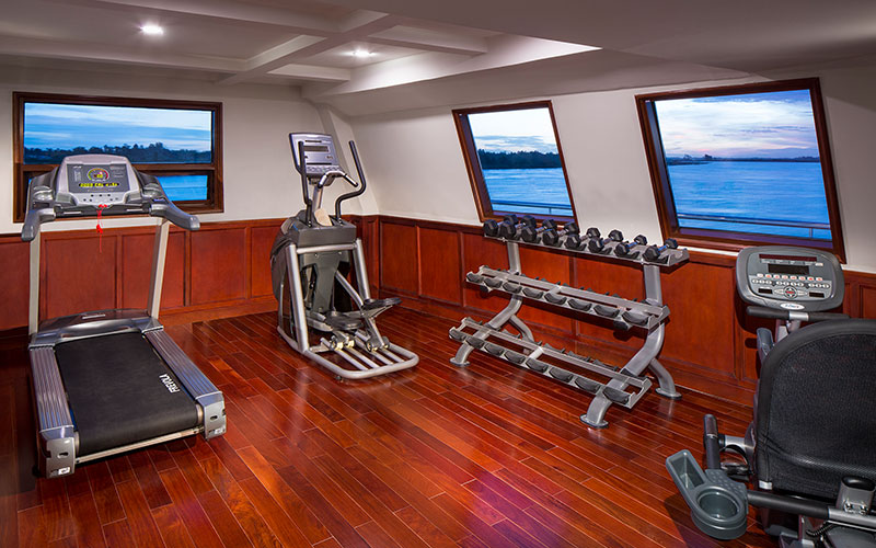 The fitness room on the AmaDara