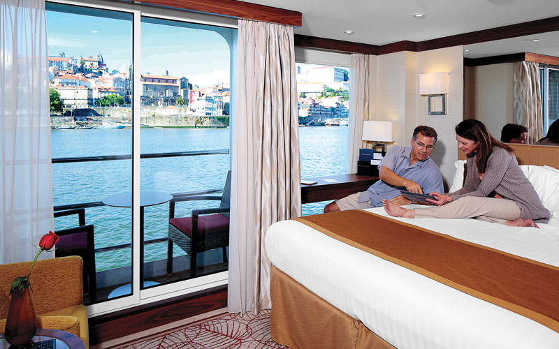 A stateroom on the AmaDouro