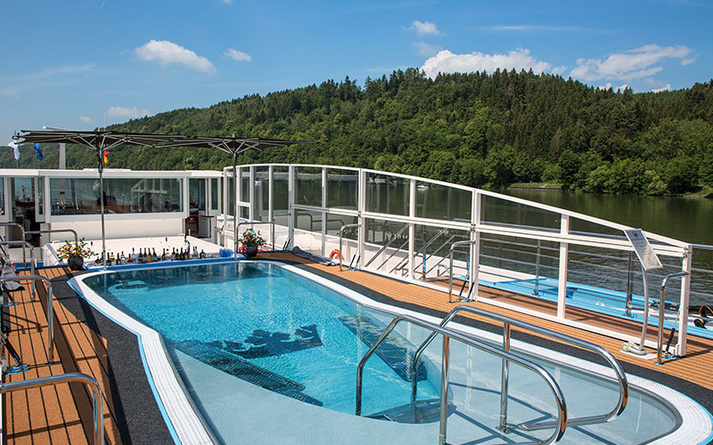 Sun Deck pool on the AmaLea