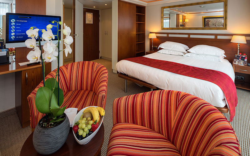 Suite onboard the AmaLyra