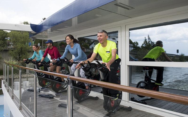 Fitness bikes aboard AmaMagna