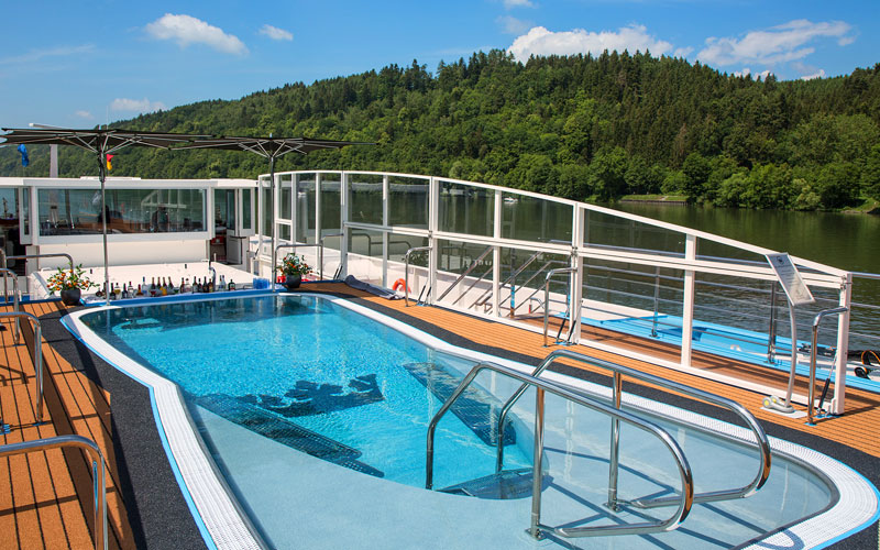 Sun Deck pool on the AmaMora