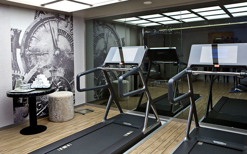 Fitness room onboard the AmaSonata