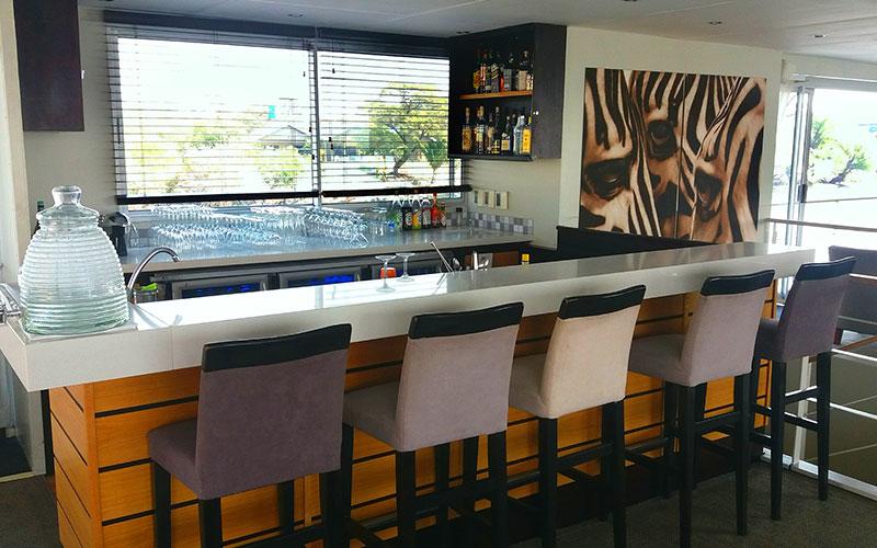 Casual Bar, Zambezi Queen - AmaWaterways