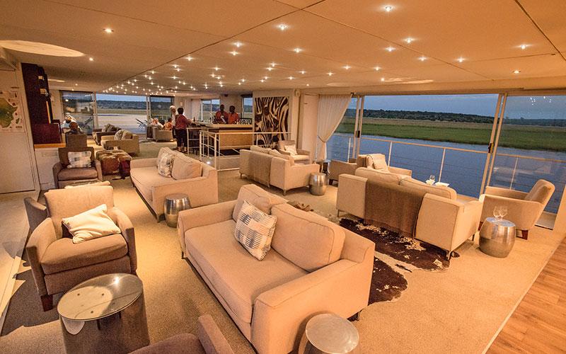 Lounge, Zambezi Queen - AmaWaterways