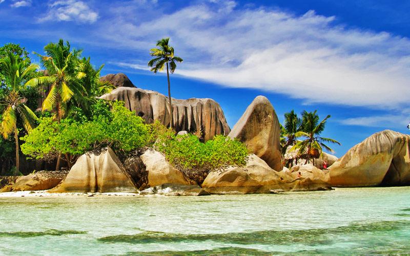 Amazing Seychelles Islands La Digue famous Rocky