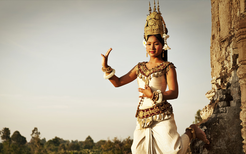 Aspara Dancer at Angkor Wat, Cambodia