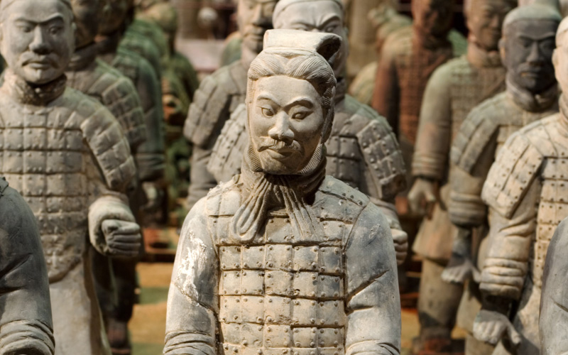 Tomb Warrior Statues of the Chinese Qin Dynasty