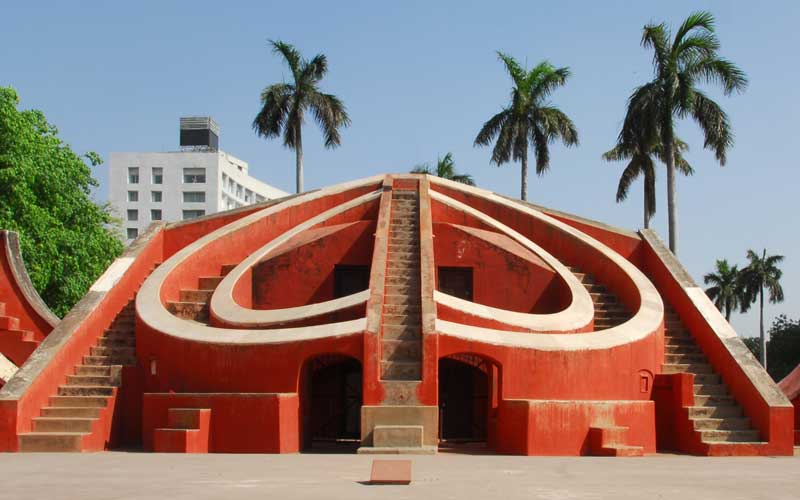 Astronomical instrument at Jantar Mantar, India