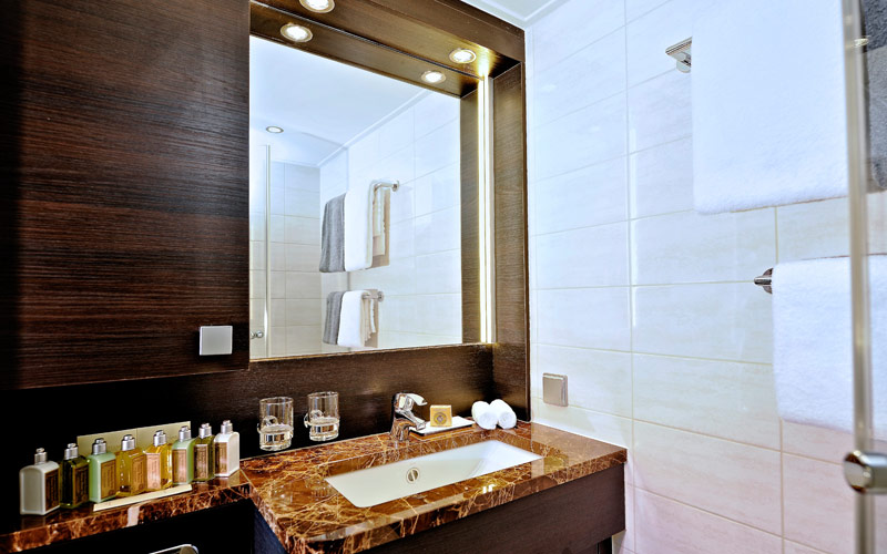 Avalon Visionary Deluxe stateroom bathroom