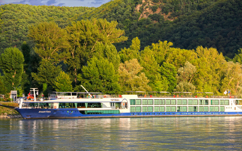 Avalon Vista sailing the Danube in fall