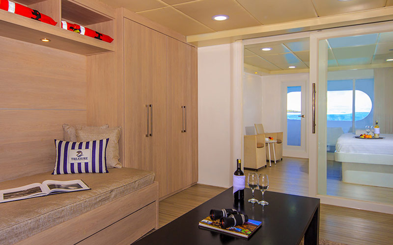 Master Suite aboard Avalon Treasure of Galapagos