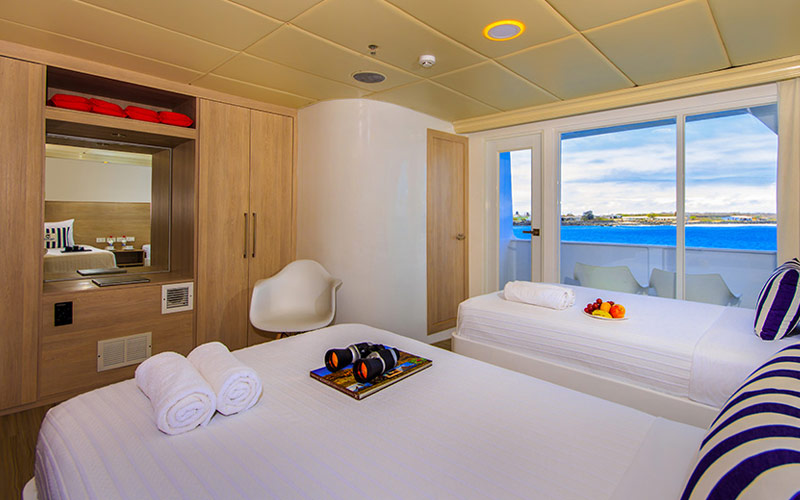Twin Suite aboard Avalon Treasure of Galapagos