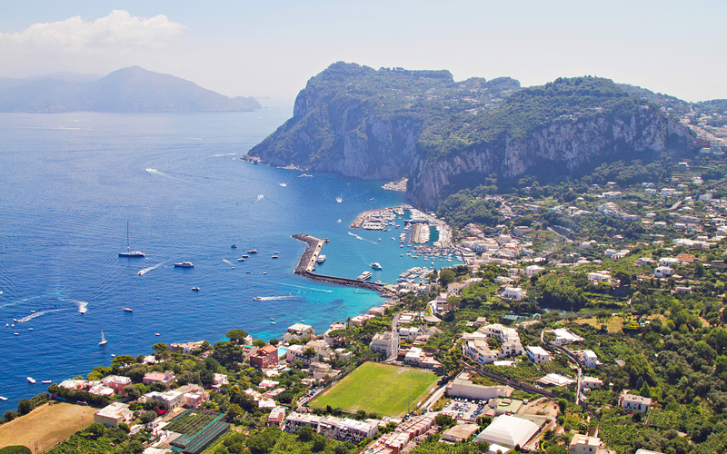 Turquoise water of Capri Azamara Club Cruises