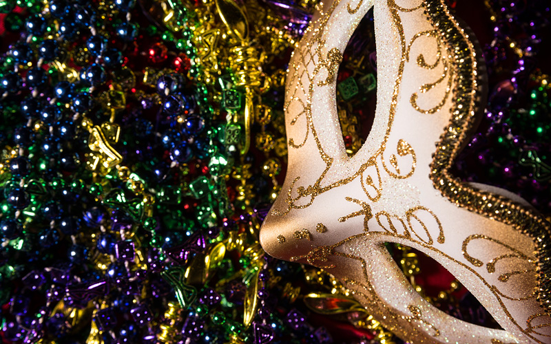 Mardi Gras Mask and Beads Azamara Club Cruises