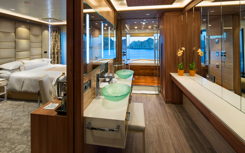 Club Spa Suite Bathroom aboard Azamara Pursuit