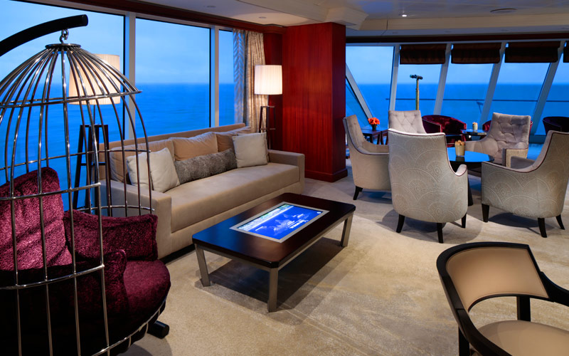 Living Room aboard Azamara Pursuit