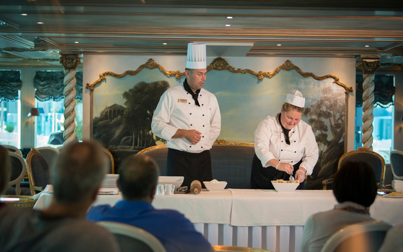 Baking class onboard the S.S. Maria Theresa