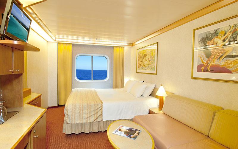 Oceanview aboard Carnival Spirit