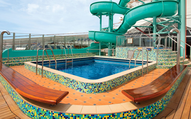 Carnival Cruise Line Carnival Valor Twister Slide
