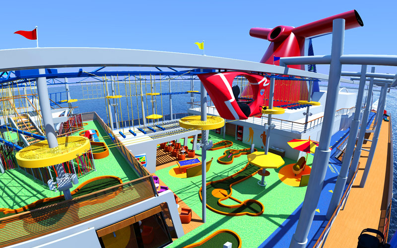 Carnival Vista Ropes Course and SkyRide
