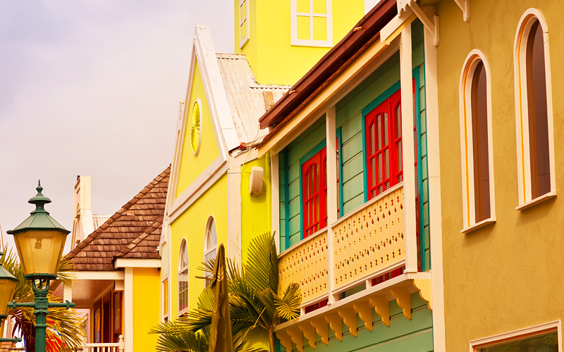 Caribbean city architecture Carnival Cruises