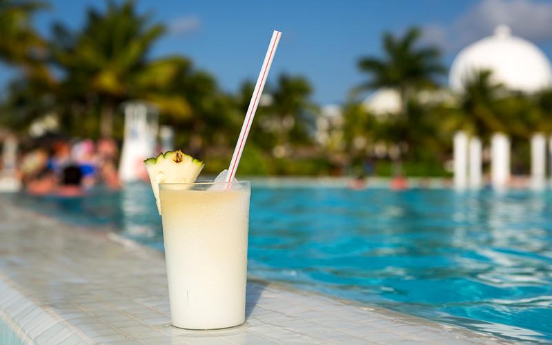 Pina colada drink Caribbean Carnival Cruises