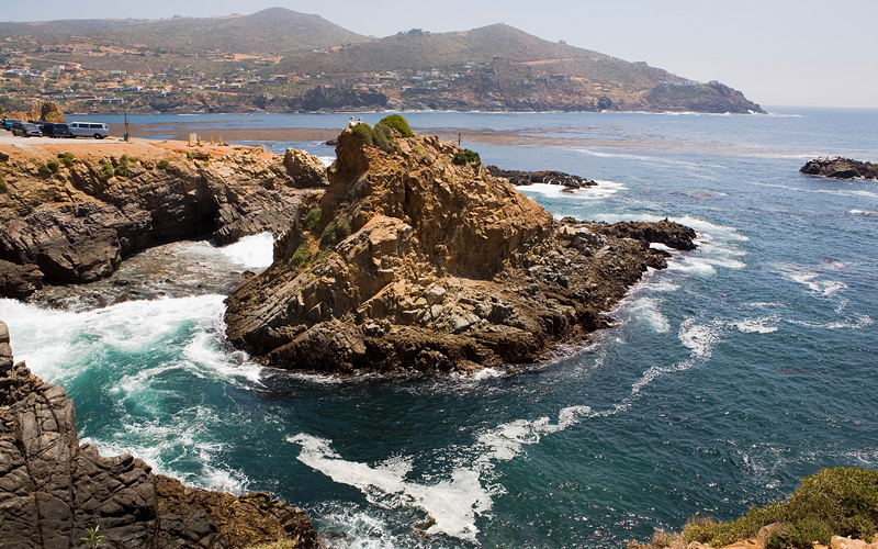 Rocky coast of Ensenada, Mexico Carnival Cruises