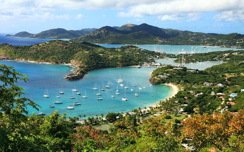English Harbor in Antigua Carnival Cruises