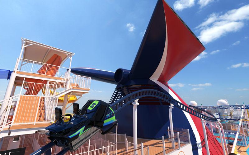 BOLT Rollercoaster aboard Carnival Mardi Gras