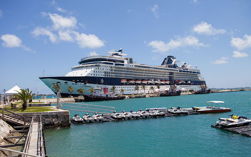 Celebrity Summit docked in Bermuda