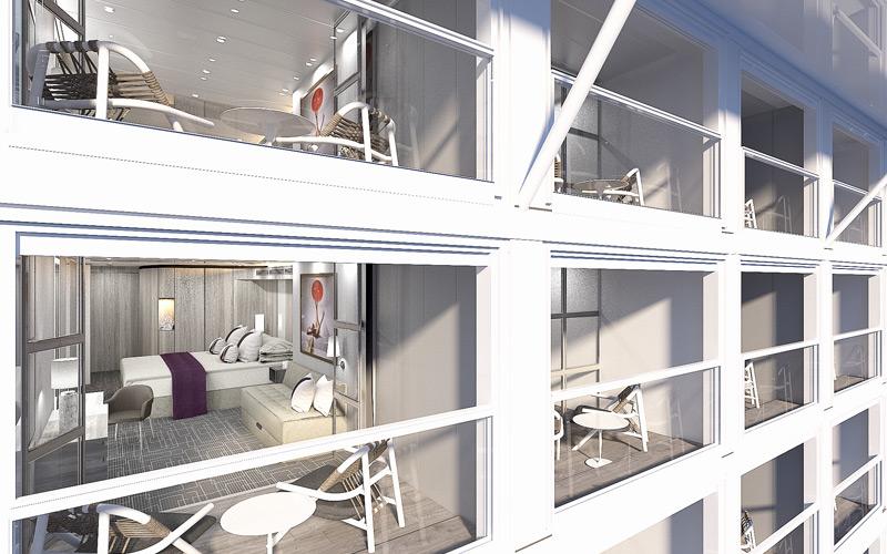 Balconies aboard Celebrity Edge
