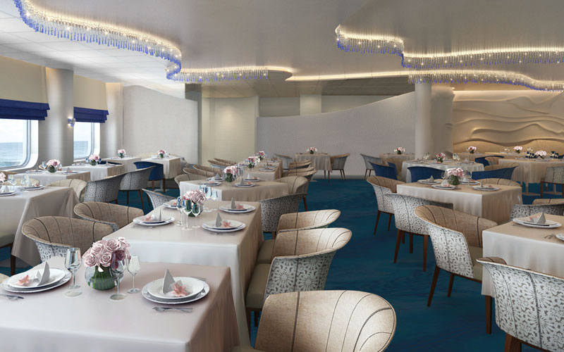 Blu Restaurant on Celebrity Edge