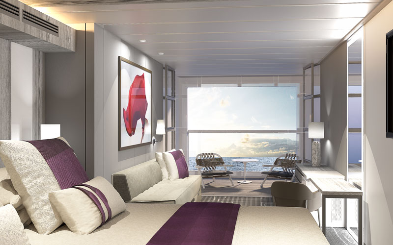 Infinite Veranda on Celebrity Edge, open