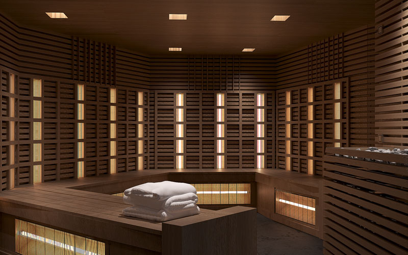 Infrared Sauna aboard Celebrity Edge