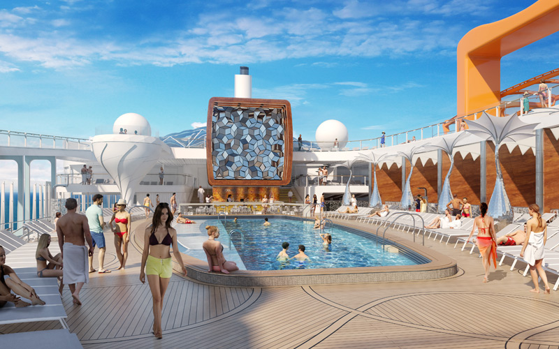 Pool Deck aboard Celebrity Edge