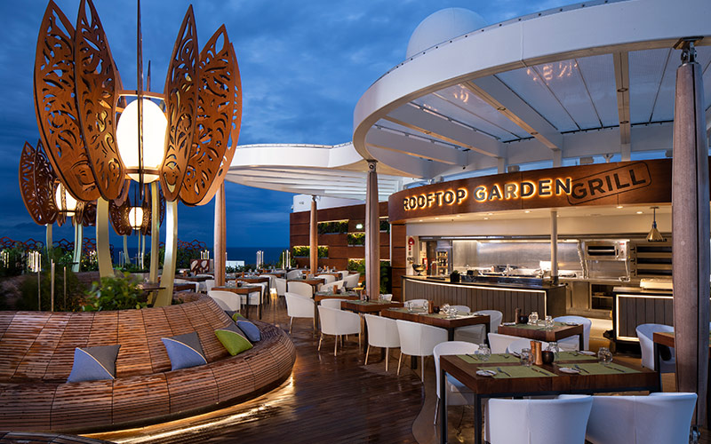 Rooftop Garden Grill aboard the Celebrity Edge