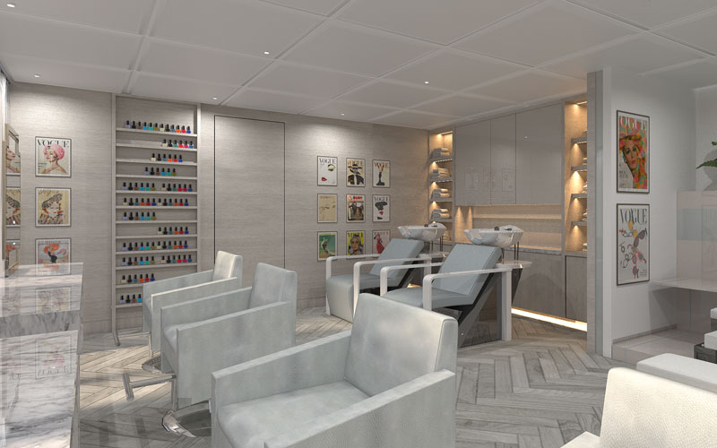 Spa Salon on Celebrity Edge