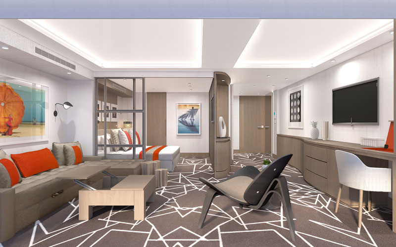 Suite on Celebrity Edge cruise ship