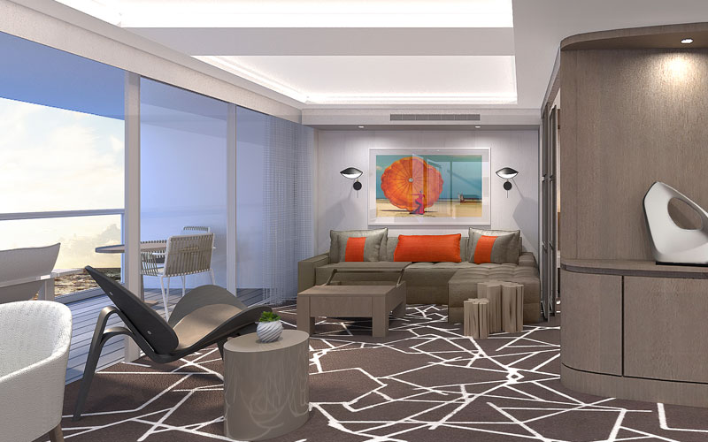 Suite on Celebrity Edge ship