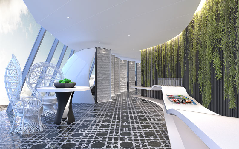 Zen Garden lobby on Celebrity Edge