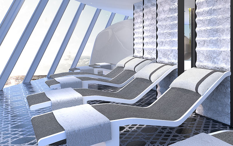 Zen Garden loungers on Celebrity Edge