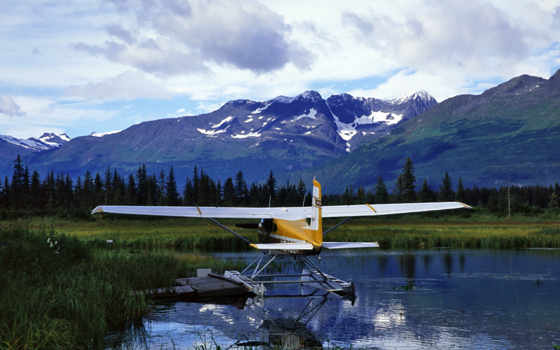 seaplane in the mountains Celebrity Cruises